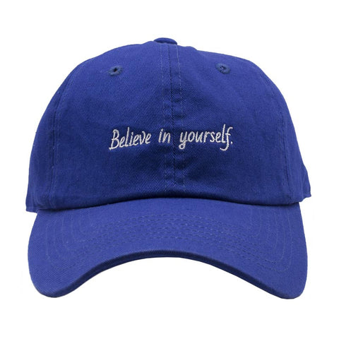 Believe In Yourself Dad Hat - Royal Blue