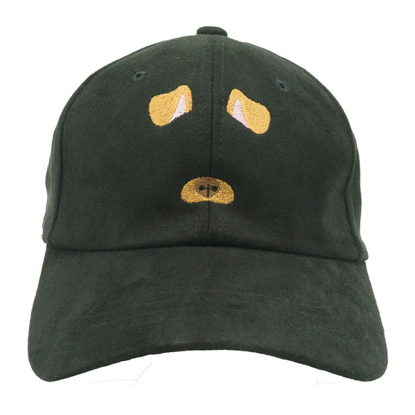 Dog Filter Dad Hat - Black Suede