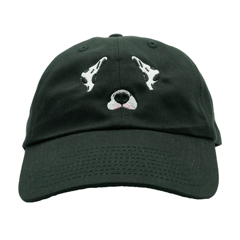 Dog Filter Dalmatian Dad Hat - Black
