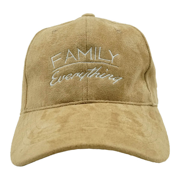 Family Over Everything Dad Hat - Tan Suede
