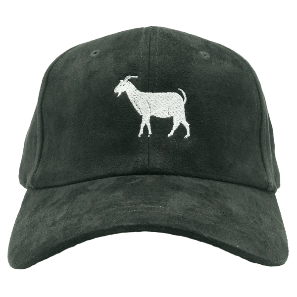 G.O.A.T. Greatest Of All Times Dad Hat - Black Suede
