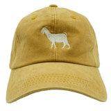 G.O.A.T. Greatest Of All Times Dad Hat - Mustard Denim