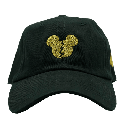 Broken Mickey Dad Hat - Gold