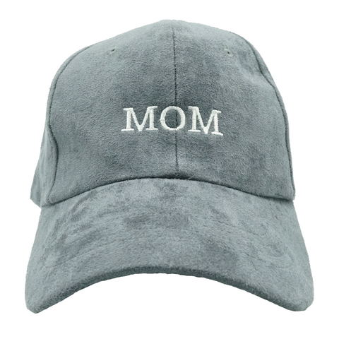 MOM Dad Hat - Grey Suede