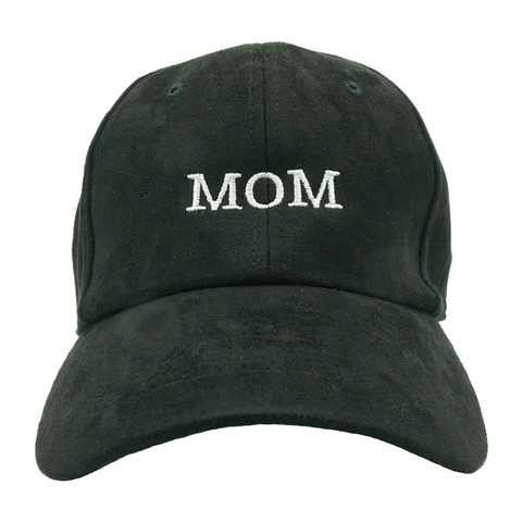 MOM Dad Hat - Black Suede
