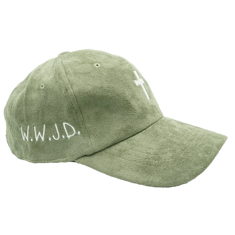 Cross W.W.J.D. Dad Hat - Green Suede