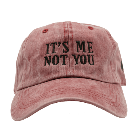 It's Me Not You Dad Hat - Red Denim