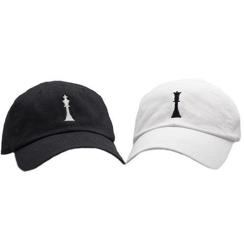 KING and QUEEN Dad Hat Pack - Black/White
