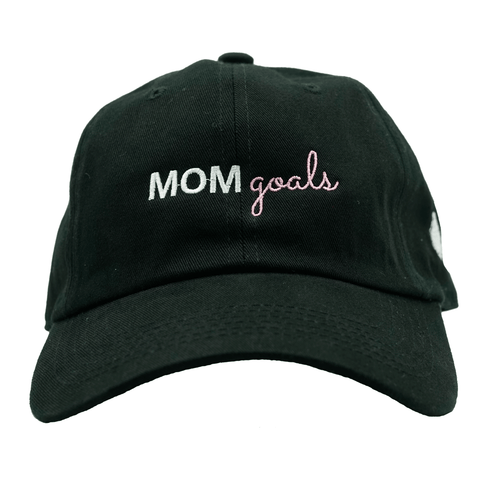 Mom Goals Dad Hat - Black