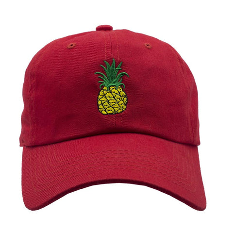 Pineapple Dad Hat - Red