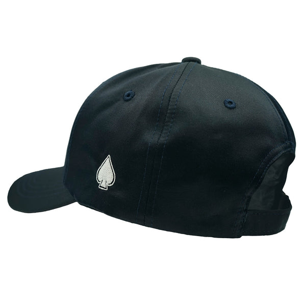 ACE Navy Satin Dad Hat - Navy Satin