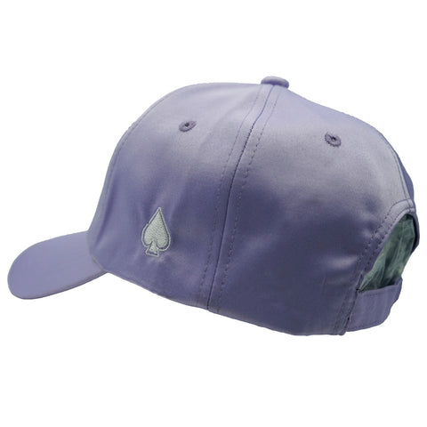 ACE Purple Satin Dad Hat - Purple Satin