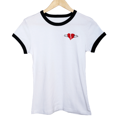 Share The Love Women's Ringer Tee