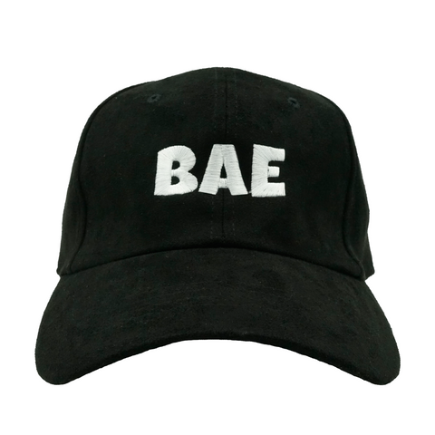 BAE Dad Hat - Black Suede