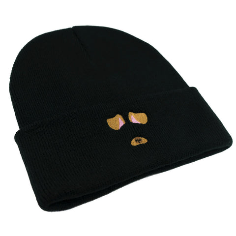Dog Filter Beanie - Black
