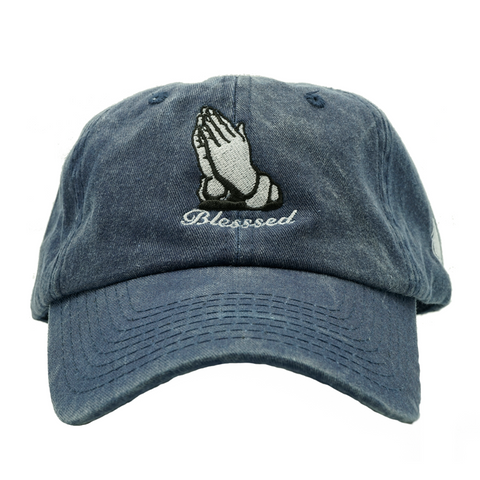 Blessed Dad Hat - Blue Denim