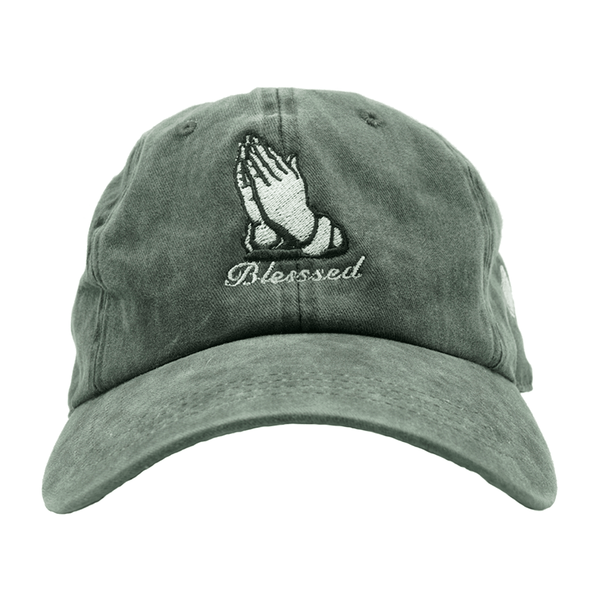 Blessed Dad Hat - Washed Black