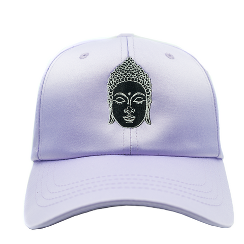 Buddha Dad Hat - Purple Satin