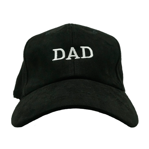 DAD Dad Hat - Black Suede