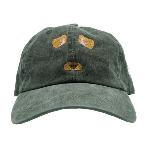 Dog Filter Dad Hat - Black Denim