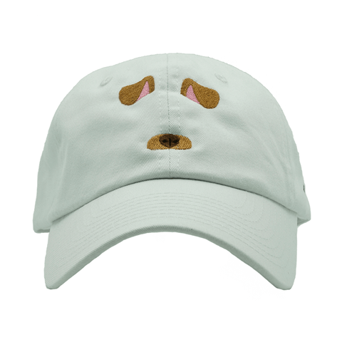 Dog Filter Dad Hat - White