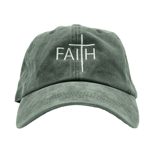 Faith Dad Hat - Black Denim