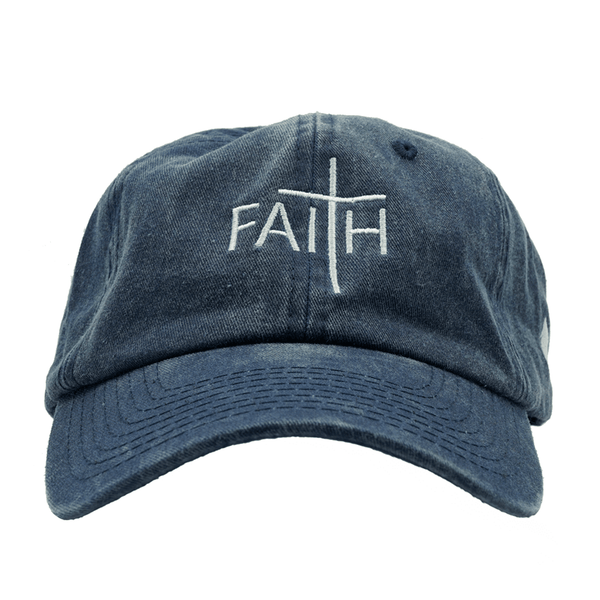 Faith Dad Hat - Washed Blue