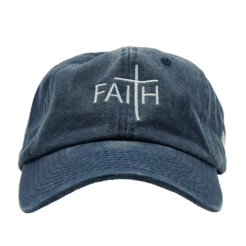 Faith Dad Hat - Blue Denim
