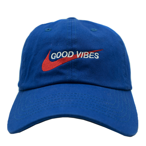 Good Vibes Dad Hat - Royal Blue
