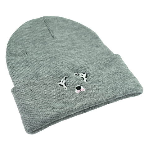 Dog Filter Dalmatian Beanie - Grey