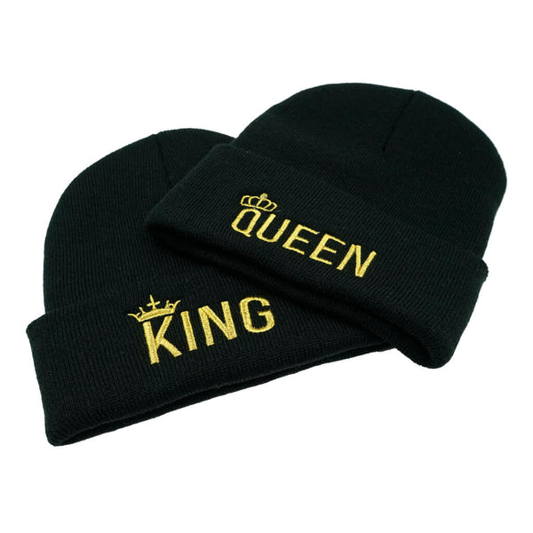 King and Queen Beanie Pack White or Black