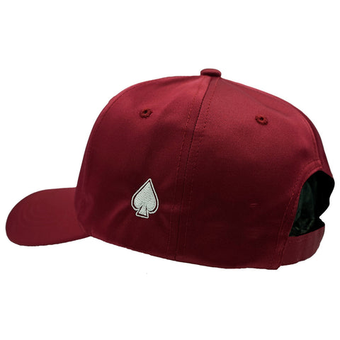 ACE Maroon Satin Dad Hat - Maroon Satin