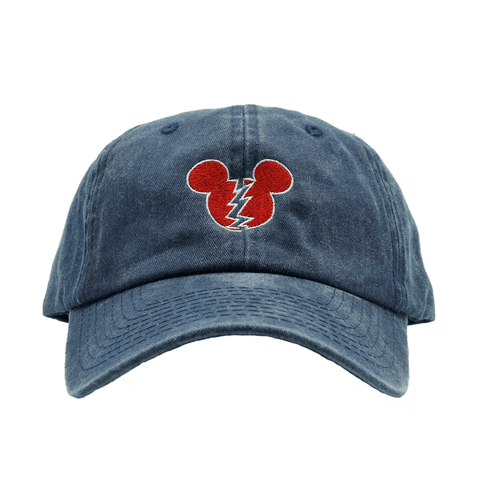 Broken Mickey Dad Hat - Blue Denim