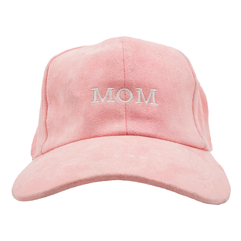 MOM Dad Hat - Pink Suede