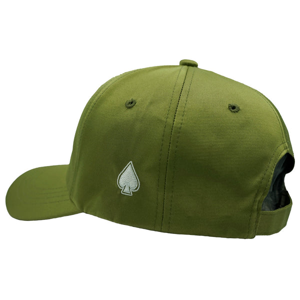 ACE Olive Satin Dad Hat - Olive Satin