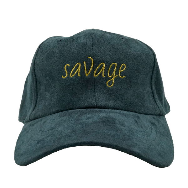 Savage Dad Hat - Navy Suede