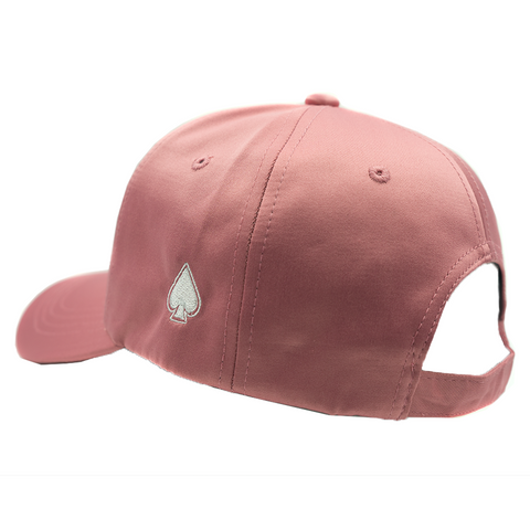 ACE Dark Pink Satin Dad Hat - Dark Pink Satin