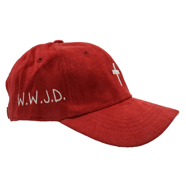 Cross W.W.J.D. Dad Hat - Red Suede