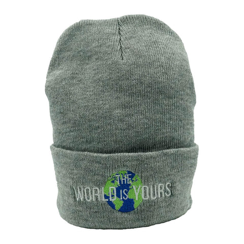 The World Is Yours Beanie - Grey