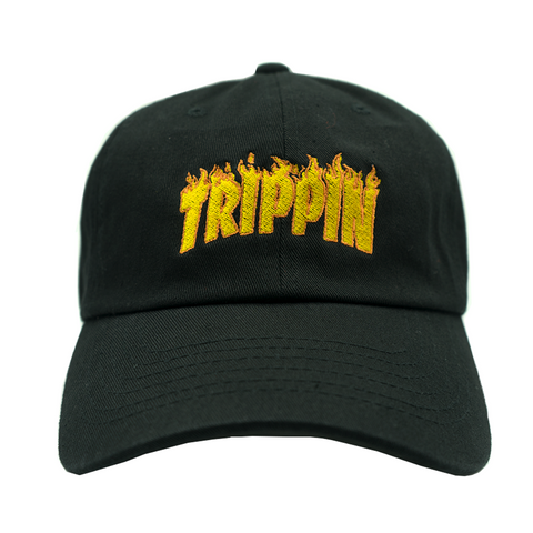 Trippin Dad Hat - Black