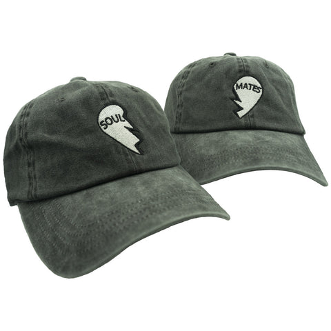 Soul Mates Dad Hat Pack - Washed Black
