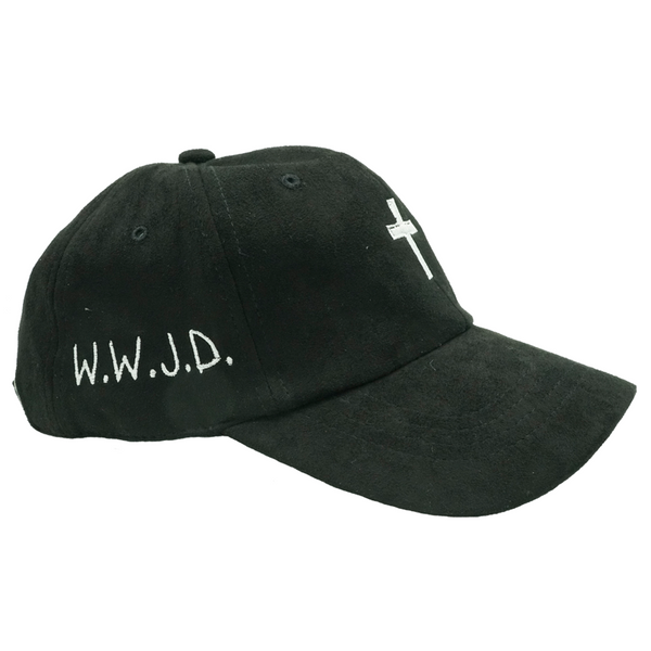 Cross W.W.J.D. Dad Hat - Black Suede