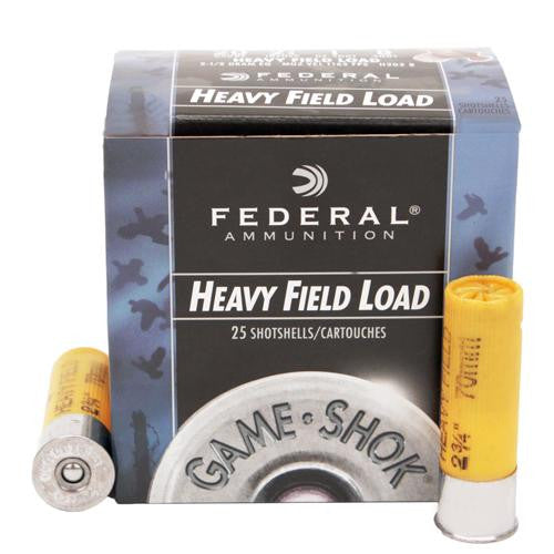 "20 Gauge - Game-Shok Heavy Field, 2 3-4"", 1 oz, #8 Lead Shot, Per 25"