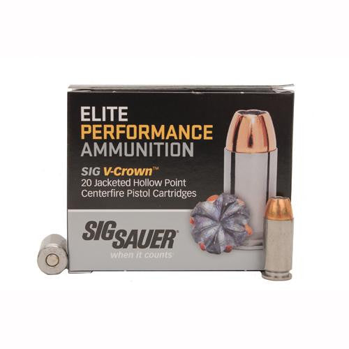 Elite V-Crown Ammunition - .40 Smith & Wesson, 125 Grains, Jacketed Hollow Point, Per 20