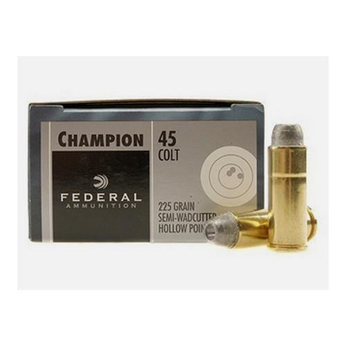 .45 Colt Champion, 225 Grains, Lead Semi-Wadcutter Hollow Point, Per 20
