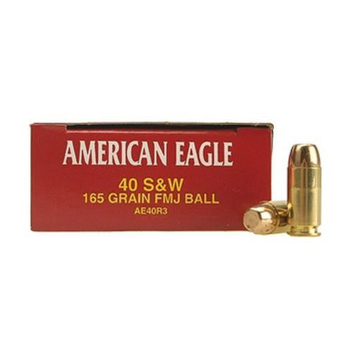 .40 Smith & Wesson - American Eagle, 165 Grains, Full Metal Jacket, Per 50