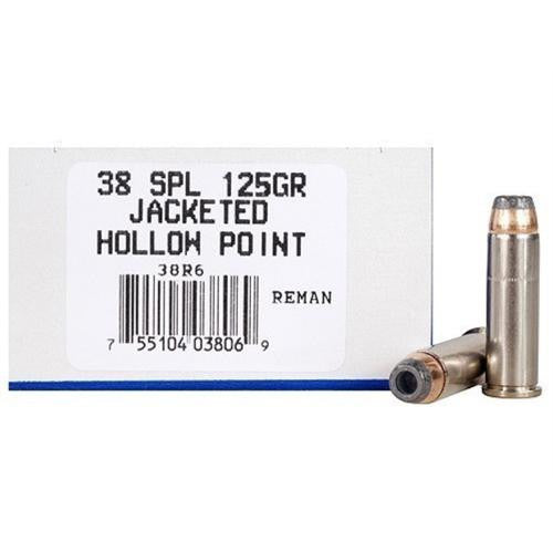 .38 Special Remanufactured - 125 Grains, Jacketed Hollow Point, Per 50