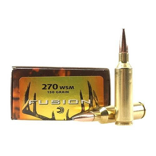 .270 Winchester Short Magnum - Fusion, 150 Grains, Spitzer Boat Tail, Per 20