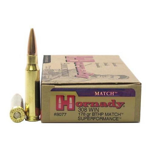 .308 Winchester - 178gr Boat Tail Hollow Point Match (Per 20)