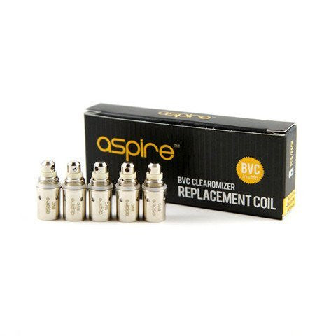 Aspire BVC Clearomizer Replacement Coils 1.8 Ohms 5/PK